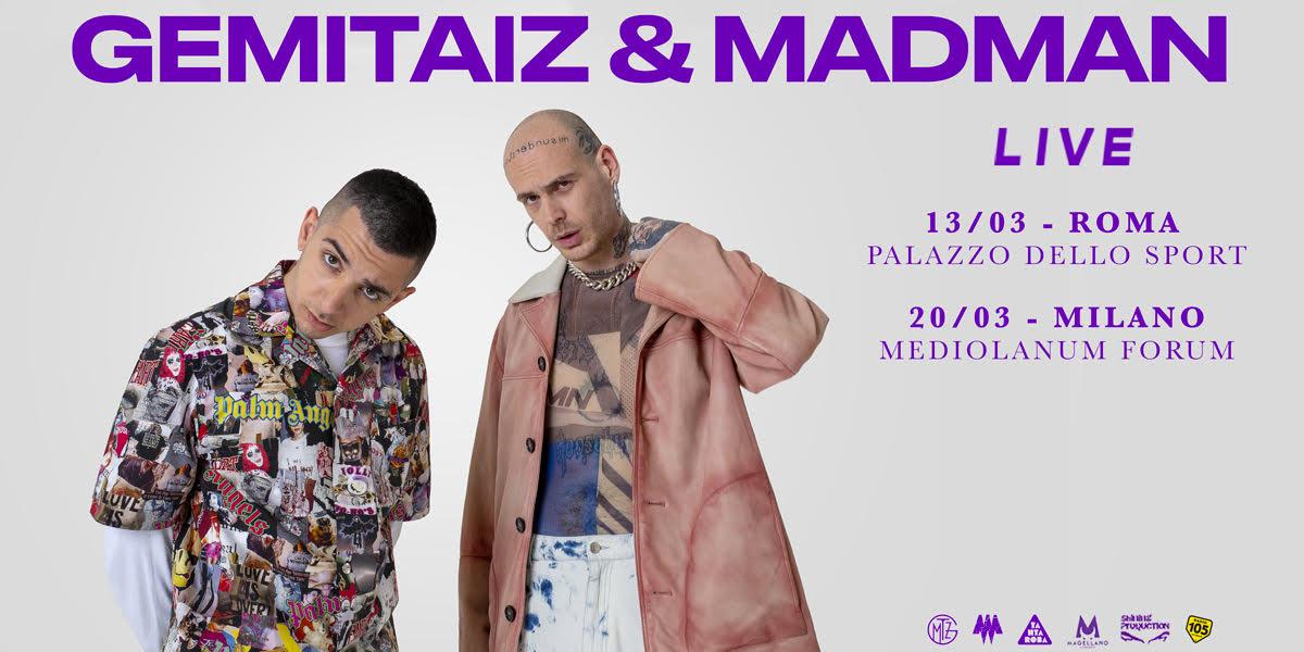 Gemitaiz & Madman, cambiano le date di Roma e Milano