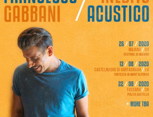 Francesco Gabbani annuncia le prime tre date del suo tour di questa estate