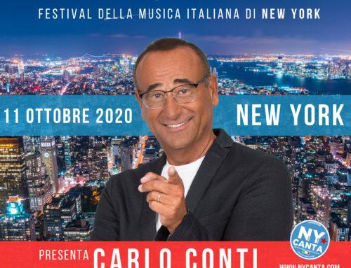 Torna NYcanta, Festival della musica italiana a New York, presenta Carlo Conti
