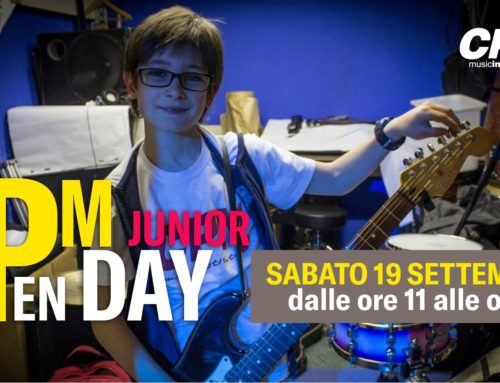 Sabato 19 settembre al CPM Music Institute l'Open Day Junior