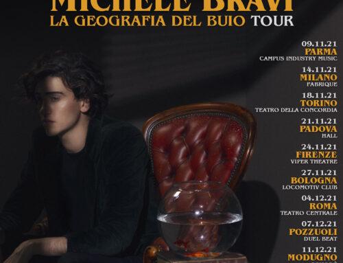 Michele Bravi partirà da Parma il 9 novembre con 'La geografia del buio tour'