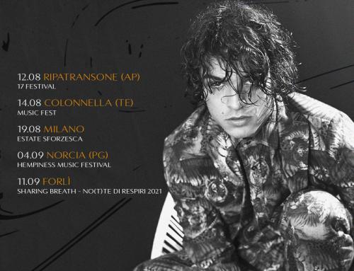 Leo Gassmann torna dal vivo, primo appuntamento il 12 agosto al Festival di Ripatransone